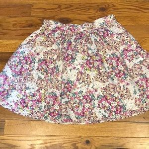Forever 21 pink floral print skirt. Size Small.